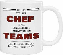 Tasse - stolzer Chef (rote Schrift): Kaffeetasse