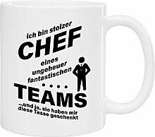 Tasse - stolzer Chef (Schwarze Schrift):