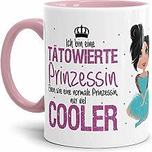 Tasse Tätowierte Prinzessin - Brünett -