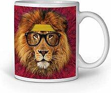 Tasse Tassen Kaffeebecher Kaffeetasse Lion Löwe