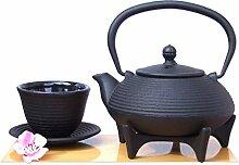 Tasse &Tetsubin-Teekessel mit Untersetzer 125 aus