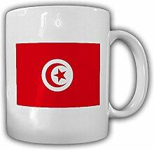 Tasse Tunesien Fahne Flagge Tunesische Republik Kaffee Becher #13952