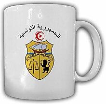 Tasse Tunesien Wappen Emblem Kaffee Becher #13953