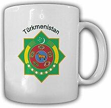 Tasse Turkmenistan Wappen Türkmenistan Emblem Kaffee Becher #13957