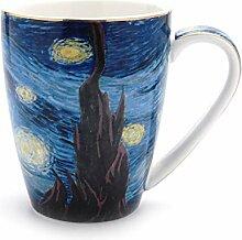 Tasse Van Gogh Starry Sky Kaffeetassen-Set Latte