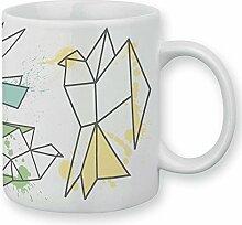 Tasse Vögel Origami Pastell–chamalow Shop