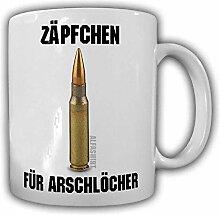 Tasse Zäpfchen für Arschlöcher 7,62mm Büro Fun