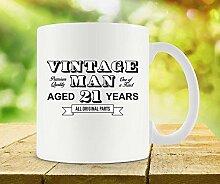 Tasse zum 21. Geburtstag, einzigartige