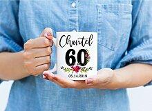 Tasse zum 60. Geburtstag, personalisierbarer Name,