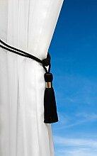 Tassel Tie Back Metal Band M-44 STRAP Black
