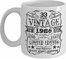 Tassen,33. Geburtstag Im Jahr 1986 33 Jahre Alt