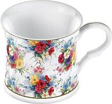 Tassen, Becher FLORA PALACE mit Blütenmotiv, H. 8cm, Ø 8,5cm rund, Creative Tops (9,95 EUR / Stück)