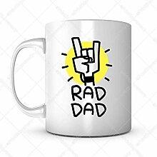 Tassen-Geschenkidee für Vatertag Papa Cartoon