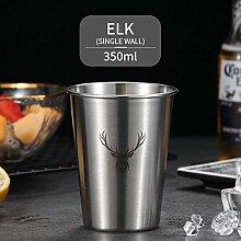 Tassen Niedliches Muster Bierkrug 304 Edelstahl
