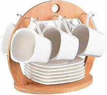 Tassen Set 13-teilig für Tee oder Kaffee.