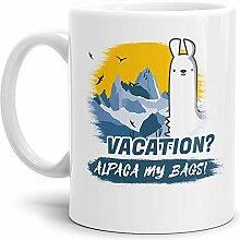 Tassendruck Alpaka-Tasse Alpaca My Bags Vacation -