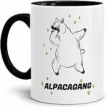 Tassendruck Alpaka-Tasse Alpacagang - Innen &