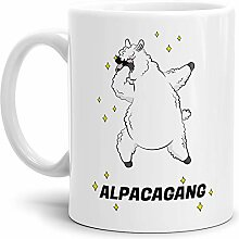 Tassendruck Alpaka-Tasse Alpacagang - Weiss -