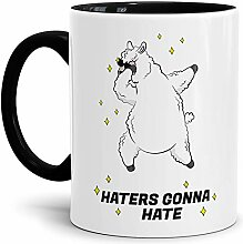 Tassendruck Alpaka-Tasse Haters Gonna Hate - Innen