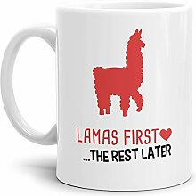 Tassendruck Alpaka-Tasse Lamas First Rest Later