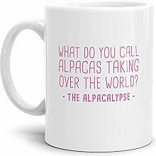 Tassendruck Alpaka-Tasse The Alpacalypse - Weiss -