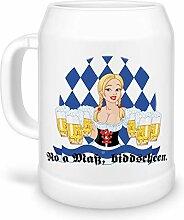 Tassendruck Bierkrug No a Maß, biddscheen. zum
