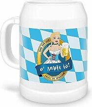 Tassendruck Bierkrug o Zapft is! zum Münchener