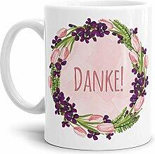 Tassendruck Dankeschön-Tasse Danke! Weiss -