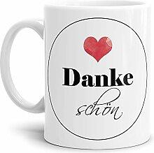 Tassendruck Dankeschön-Tasse Dankeschön Weiss -