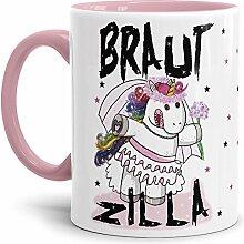 Tassendruck Einhorn-Tasse Braut-Zilla -