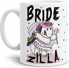 Tassendruck Einhorn-Tasse Bride-Zilla -