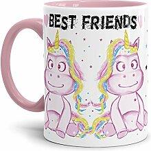 Tassendruck Einhorn-Tasse mit Spruch Best Friends