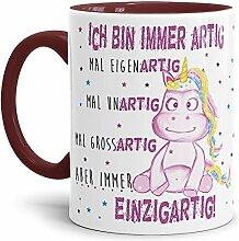 Tassendruck Einhorn-Tasse mit Spruch Immer