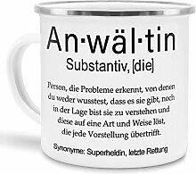 Tassendruck Emaille mit Definition Anwältin -