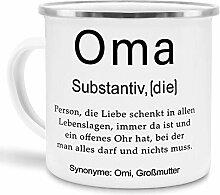 Tassendruck Emaille mit Definition Oma -
