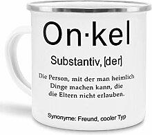 Tassendruck Emaille mit Definition Onkel -
