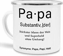 Tassendruck Emaille mit Definition Papa -