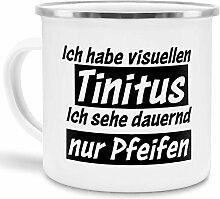 Tassendruck Emaille-Tasse mit Spruch Ich Habe