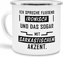 Tassendruck Emaille-Tasse mit Spruch Ich Spreche