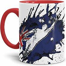 Tassendruck Flaggen-Tasse Fussballer -Australien -