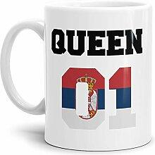 Tassendruck Flaggen-Tasse Queen - Serbien -