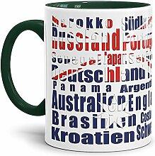 Tassendruck Flaggen-Tasse WM Teilnehmer -
