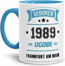Tassendruck Geburtstags-Tasse Geboren 1989 Eine