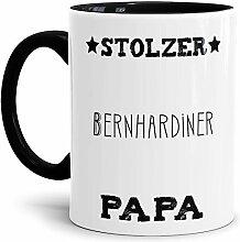 Tassendruck Hunde-Tasse Stolzer Bernhardiner Papa