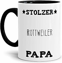 Tassendruck Hunde-Tasse Stolzer Rottweiler Papa
