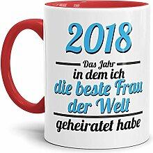 Tassendruck Partner-Tasse Frau geheiratet / 2018 /