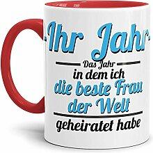 Tassendruck Partner-Tasse Frau geheiratet / -Ihr