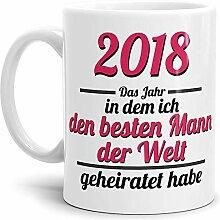 Tassendruck Partner-Tasse Mann geheiratet / 2018 /