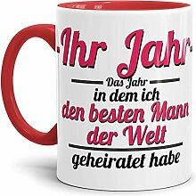 Tassendruck Partner-Tasse Mann geheiratet / -Ihr