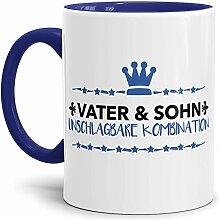 Tassendruck Spruch-Tasse Vater & Sohn Innen &